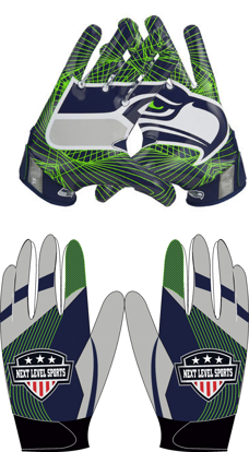 Picture of Seahawks custom football Gloves