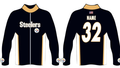 Picture of Steelers Custom Sublimated Track  Jacket