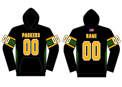 Picture of Packers Custom sublimated  Hoodie