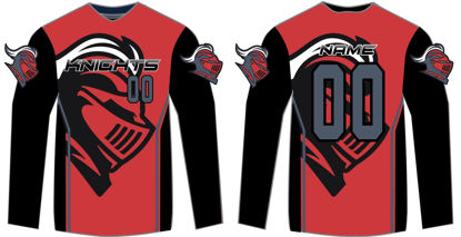 Picture of Knights Custom sublimated long sleeve Shirt