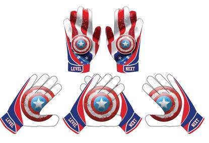 Picture of Captain America   custom football Gloves